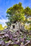 Temple de Mealea de Beng Mealea ou de bondon Le Cambodge cambodia image libre de droits