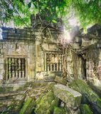 Temple de Mealea de Beng Mealea ou de bondon Le Cambodge cambodia photographie stock libre de droits