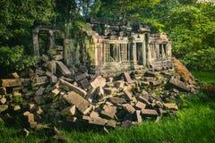 Temple de Mealea de Beng Mealea ou de bondon Le Cambodge cambodia photographie stock