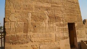 Temple de Medinet Habu l'Egypte, Luxor Le temple mortuaire de Ramesses III chez Medinet Habu est une nouvelle période importante  photos libres de droits