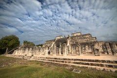 Temple de mille guerriers, Chichen Itza, Mexique Photographie stock libre de droits
