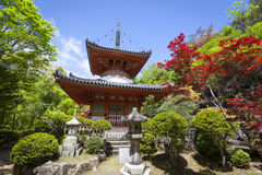 Temple de Mitaki, Hiroshima, Japon Photos stock