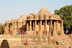 Temple de Modhera Sun, Goudjerate photographie stock libre de droits