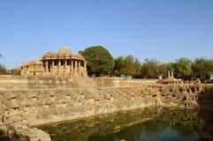 Temple de Modhera Sun, Goudjerate photos libres de droits
