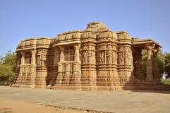 Temple de Modhera Sun, Goudjerate images libres de droits