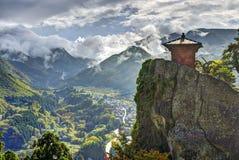 Temple de montagne de Yamadera Images libres de droits
