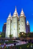 Temple de mormons à Salt Lake City, UT photographie stock libre de droits