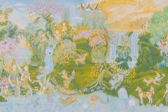 Temple de mur de peinture images libres de droits