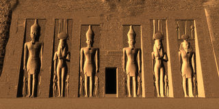 Temple de Nefertari Photo stock