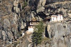 Temple de nid du ` s de Taktshang Goemba ou de tigre, Bhutan Photo stock