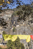 Temple de nid du ` s de Taktshang Goemba ou de tigre, Bhutan Photographie stock