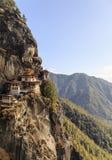 Temple de nid du ` s de tigre ou monastère Bhutan de Taktsang Palphug Photo stock