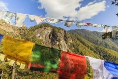 Temple de nid du ` s de tigre ou monastère Bhutan de Taktsang Palphug Photo libre de droits
