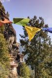 Temple de nid du ` s de tigre ou monastère Bhutan de Taktsang Palphug Photos libres de droits