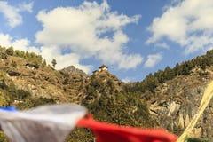 Temple de nid du ` s de tigre ou monastère Bhutan de Taktsang Palphug Photographie stock libre de droits