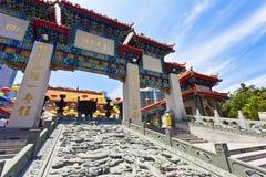 Temple de péché de Wong Tai à Hong Kong Photo stock