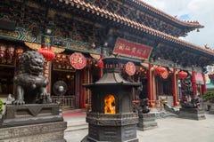 Temple de péché de Wong Tai à Hong Kong Photo libre de droits