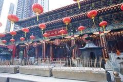 Temple de péché de Wong Tai à Hong Kong au jour Image libre de droits