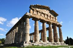 Temple de Paestum Photo stock
