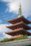 Temple de pagoda d'Asakusa Sensoji Photos stock