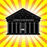 Temple de Panthéon des dieux à Rome illustration stock