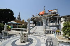 Temple de Parasnath dans Kolkata, Inde Photos libres de droits