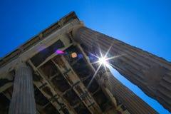 Temple de parthenon Photos stock