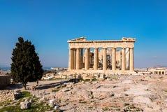 Temple de parthenon, Acropole à Athènes, Grèce images libres de droits
