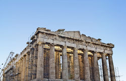 Temple de parthenon à Athènes, Grèce Photos libres de droits