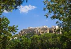 Temple de parthenon dans l'Acropole à Athènes, Grèce Image libre de droits