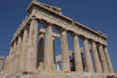 Temple de parthenon en colline d'Acropole à Athènes, Grèce Photographie stock