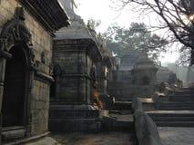 Temple de Pashupatinath à Katmandou Image libre de droits
