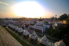 Temple de Pashupatinath à Katmandou, Népal image libre de droits