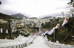 Temple de passage couvert à Busan Corée Images libres de droits
