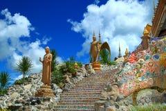 Temple de Phasornkaew, rocktemple Photographie stock