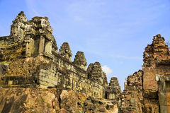 temple de phnom du Cambodge de bakheng Image libre de droits
