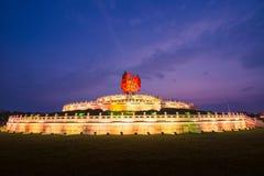 Temple de Phoenix au coucher du soleil Image stock