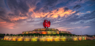 Temple de Phoenix au coucher du soleil Photographie stock libre de droits