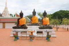 Temple de Phra Borommathat Chaiya Ratchaworawihan images libres de droits
