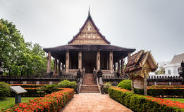 Temple de Phra Kaew de baie d'aubépine, Vientiane, Laos Image stock