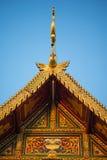 Temple de pignon de toit dans le style thaïlandais Images libres de droits