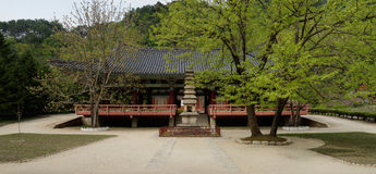 Temple de Pohyonsa, DPRK (Corée du Nord) Image libre de droits