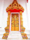 Temple de porte chez Wat-chom-phu-wek Thaïlande Photographie stock libre de droits