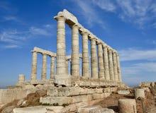 Temple de Poseidon photos stock