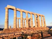 Temple de Poseidon au cap Sounion image stock
