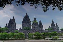 Temple de Prambanan dans le cadre Images stock
