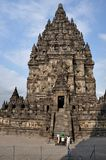 Temple de Prambanan sur Java photos stock