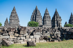 Temple de Prambanan, Yogyakatar Indonésie Photos stock