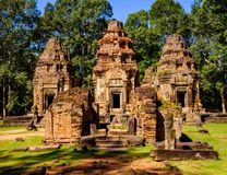 Temple de Preah Ko, Siem Reap, Cambodge Photo stock
