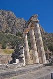 Temple de pronoia d'Athéna à Delphes images stock
